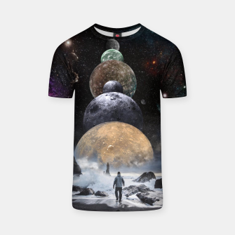 Thumbnail image of Walking to the Planets T-shirt, Live Heroes