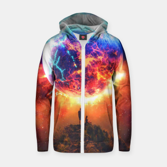 Thumbnail image of Lava Planet Zip up hoodie, Live Heroes