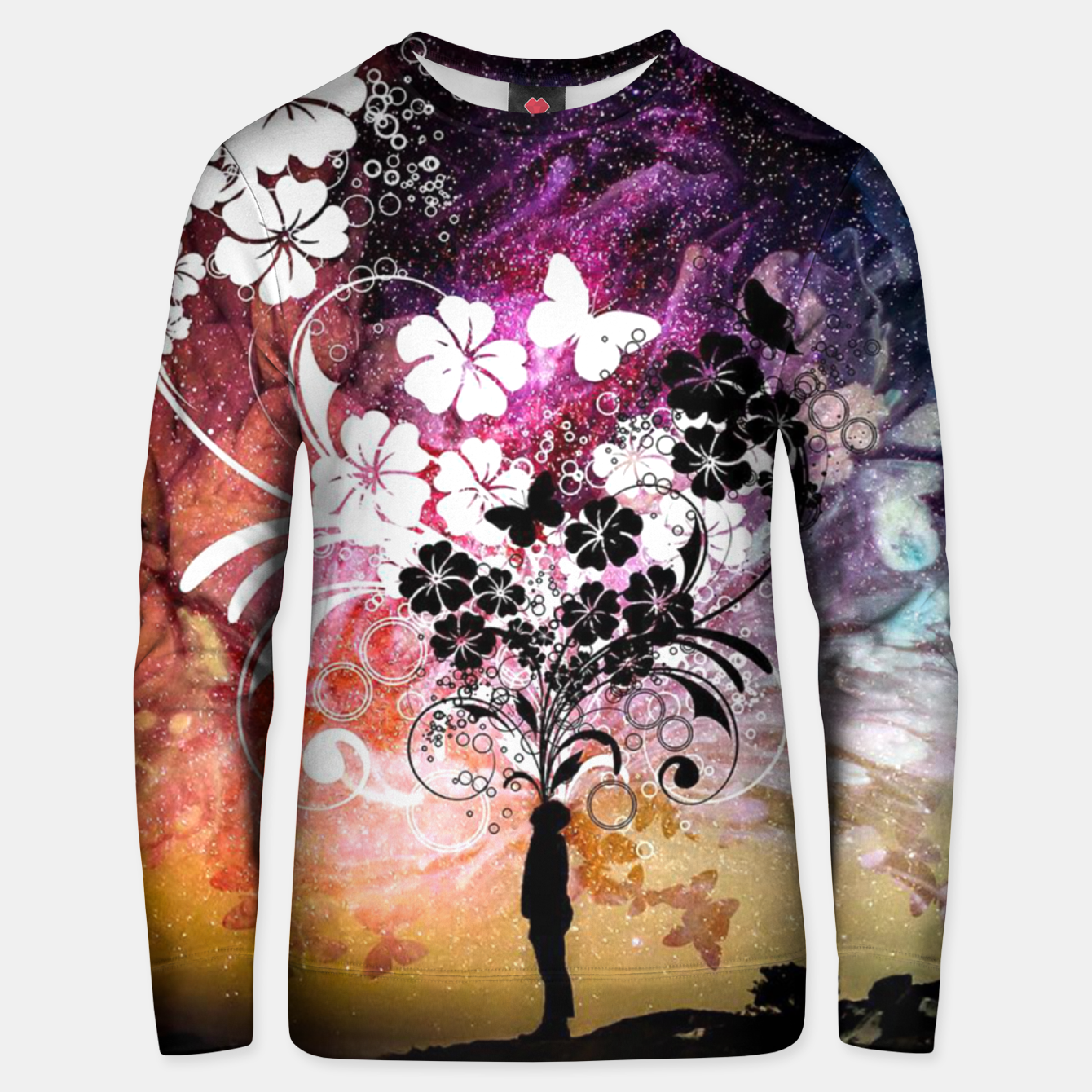 Image of Flower Universe Unisex sweater - Live Heroes