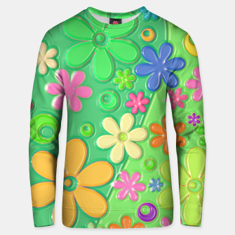 Miniatur Flower Power Unisex sweater, Live Heroes