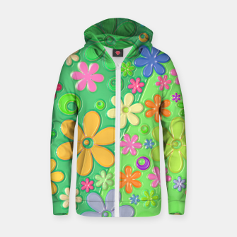 Miniatur Flower Power Zip up hoodie, Live Heroes