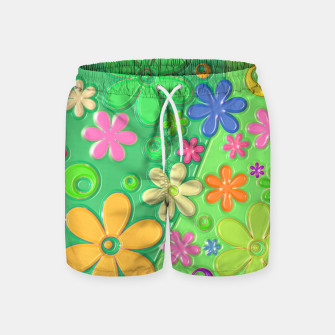 Miniatur Flower Power Swim Shorts, Live Heroes