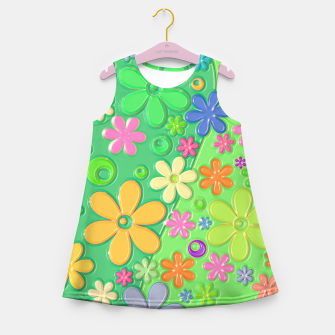 Miniatur Flower Power Girl's summer dress, Live Heroes