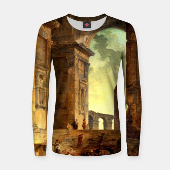 Ruins With An Obelisk In The Distance by Hubert Robert Women sweater thumbnail image