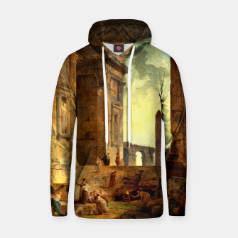 Ruins With An Obelisk In The Distance by Hubert Robert Hoodie thumbnail image