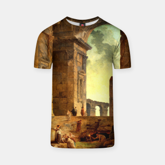 Ruins With An Obelisk In The Distance by Hubert Robert T-shirt thumbnail image