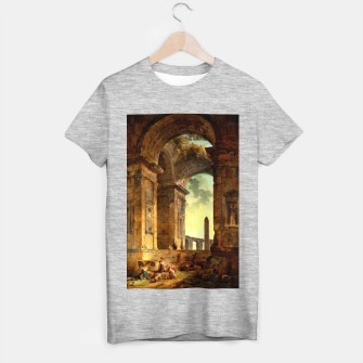 Ruins With An Obelisk In The Distance by Hubert Robert T-shirt regular thumbnail image
