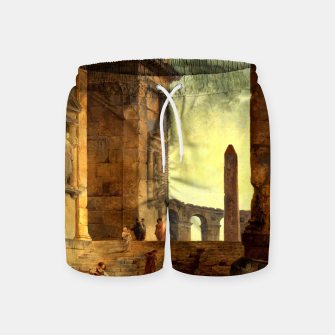Ruins With An Obelisk In The Distance by Hubert Robert Swim Shorts thumbnail image