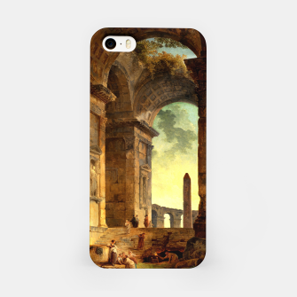 Ruins With An Obelisk In The Distance by Hubert Robert iPhone Case thumbnail image
