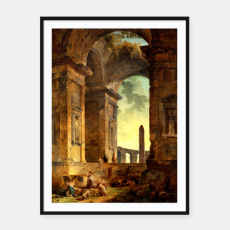 Ruins With An Obelisk In The Distance by Hubert Robert Framed poster thumbnail image