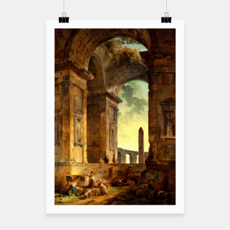 Ruins With An Obelisk In The Distance by Hubert Robert Poster thumbnail image