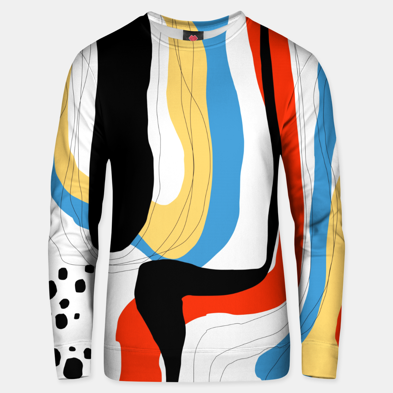 Image of Abstract color shape Unisex sweater - Live Heroes
