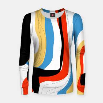 Thumbnail image of Abstract color shape Women sweater, Live Heroes