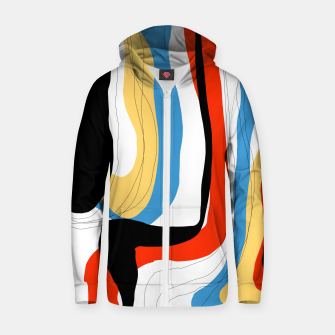 Thumbnail image of Abstract color shape Zip up hoodie, Live Heroes