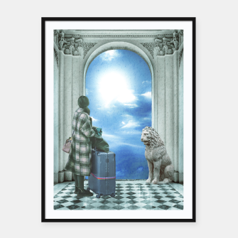Thumbnail image of Digital Art Collage Fantasy Scene Framed poster, Live Heroes