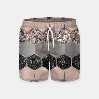 Blush Hexagon Glitter Glam #3 #geometric #decor #art  Badeshorts thumbnail image