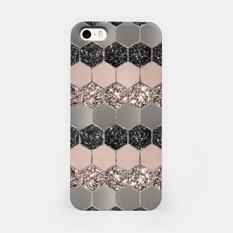 Blush Hexagon Glitter Glam #3 #geometric #decor #art  iPhone-Hülle thumbnail image