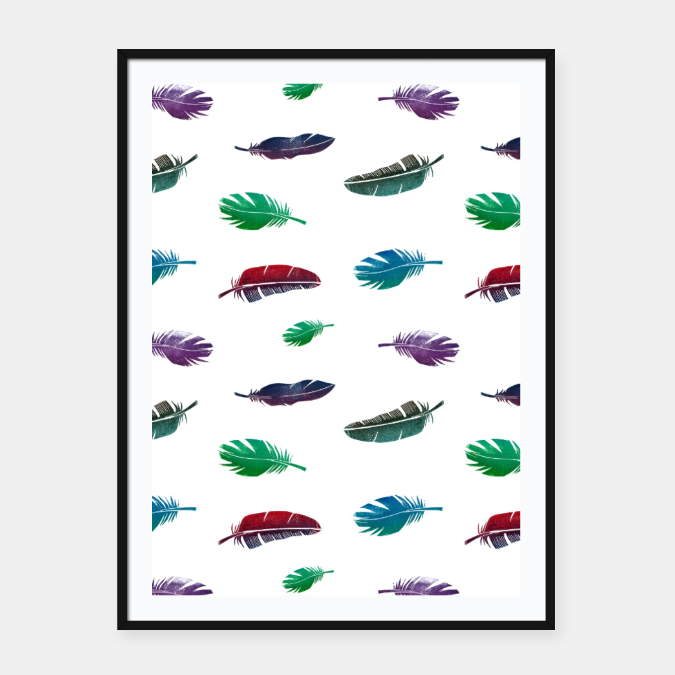 Image of Feathers – Framed poster - Live Heroes