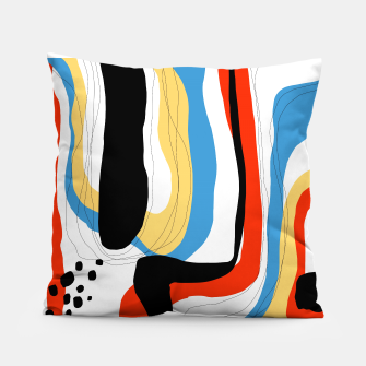 Thumbnail image of Abstract color shape Pillow, Live Heroes