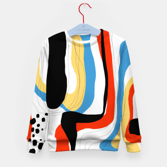 Thumbnail image of Abstract color shape Kid's sweater, Live Heroes