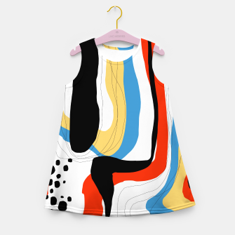 Thumbnail image of Abstract color shape Girl's summer dress, Live Heroes