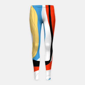 Thumbnail image of Abstract color shape Girl's leggings, Live Heroes