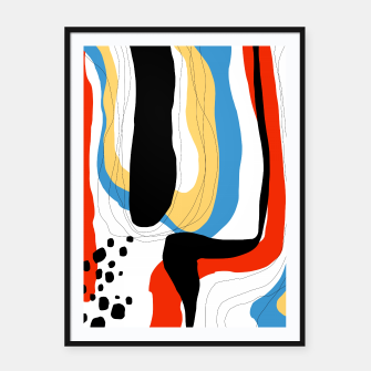 Thumbnail image of Abstract color shape Framed poster, Live Heroes