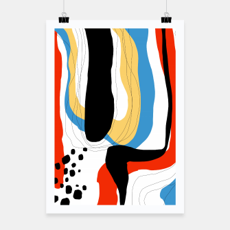 Thumbnail image of Abstract color shape Poster, Live Heroes