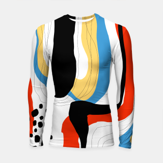 Thumbnail image of Abstract color shape Longsleeve rashguard , Live Heroes