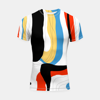 Thumbnail image of Abstract color shape Shortsleeve rashguard, Live Heroes