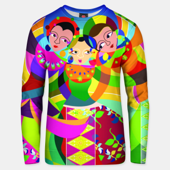 Thumbnail image of traditional batavia dance  Unisex sweater, Live Heroes