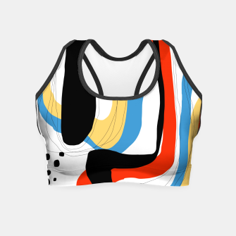 Thumbnail image of Abstract color shape Crop Top, Live Heroes