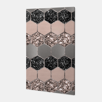 Blush Hexagon Glitter Glam #3 #geometric #decor #art  Canvas thumbnail image