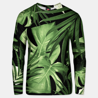 Tropical Jungle Night Leaves Pattern #5 #tropical #decor #art Unisex sweatshirt thumbnail image