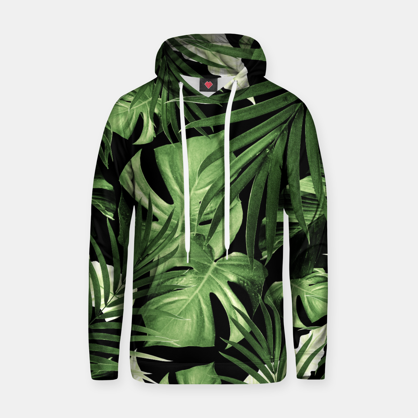 Image of Tropical Jungle Night Leaves Pattern #5 #tropical #decor #art Kapuzenpullover - Live Heroes