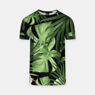 Tropical Jungle Night Leaves Pattern #5 #tropical #decor #art T-Shirt thumbnail image