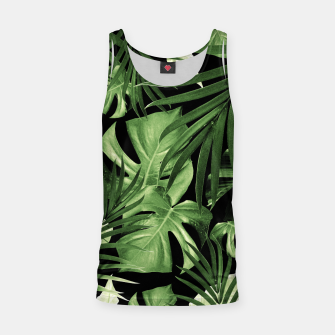 Tropical Jungle Night Leaves Pattern #5 #tropical #decor #art Muskelshirt  thumbnail image