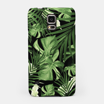 Tropical Jungle Night Leaves Pattern #5 #tropical #decor #art Handyhülle für Samsung thumbnail image
