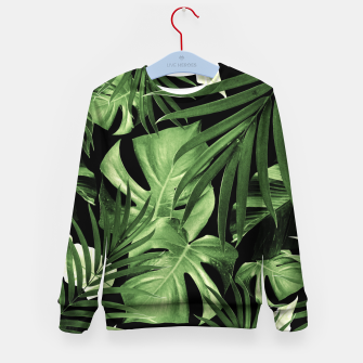 Tropical Jungle Night Leaves Pattern #5 #tropical #decor #art Kindersweatshirt thumbnail image