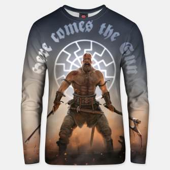 Thumbnail image of here_comes_the_sun Unisex sweater, Live Heroes