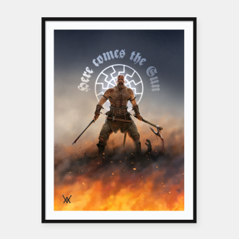 Thumbnail image of here_comes_the_sun Framed poster, Live Heroes