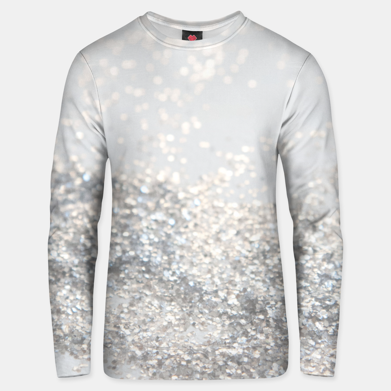 Image of Silver Gray Glitter #3 #shiny #decor #art Unisex sweatshirt - Live Heroes