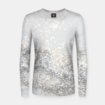 Silver Gray Glitter #3 #shiny #decor #art Frauen sweatshirt thumbnail image