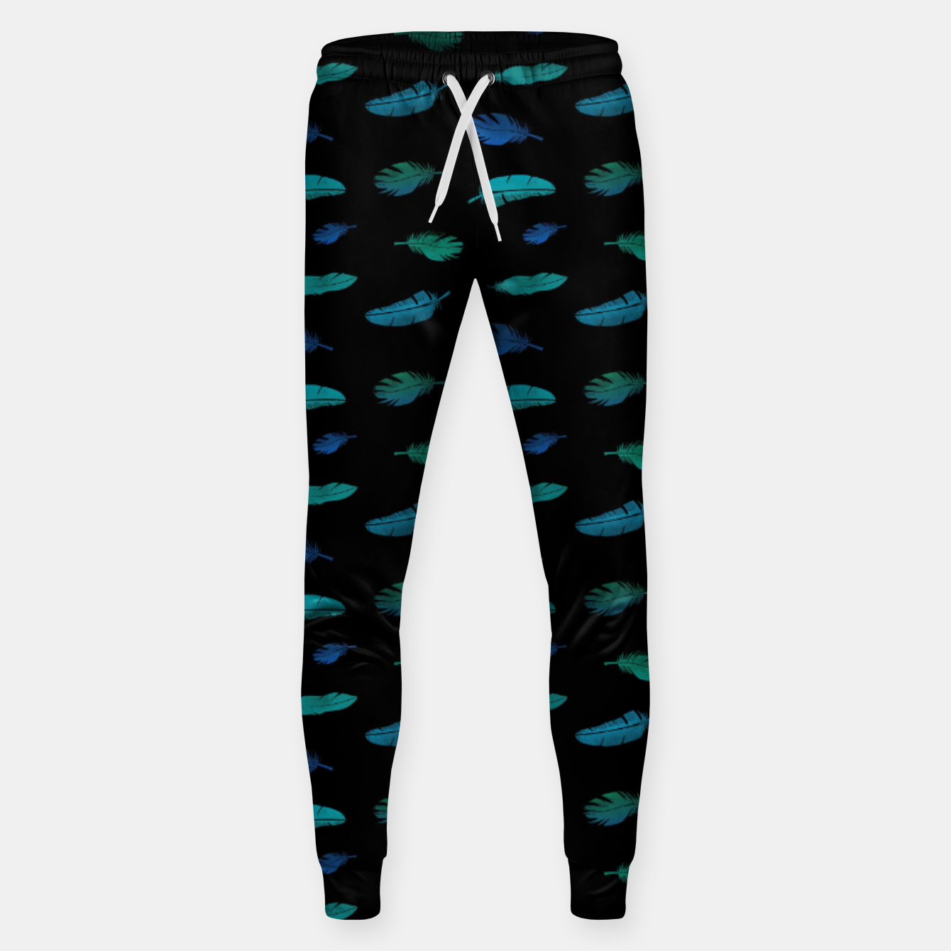 Image of Feathers on Black Sweatpants - Live Heroes