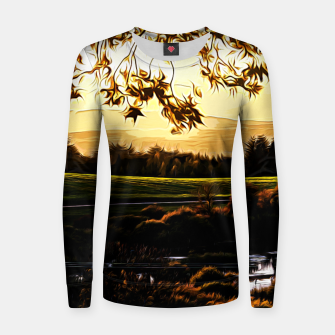 idyllic nature landscape vastd Women sweater thumbnail image