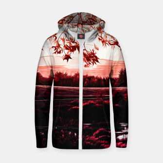 Thumbnail image of idyllic nature landscape va2s Zip up hoodie, Live Heroes