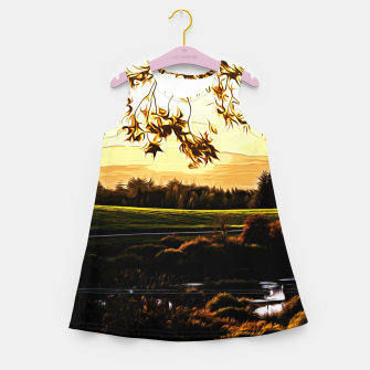 idyllic nature landscape vastd Girl's summer dress thumbnail image