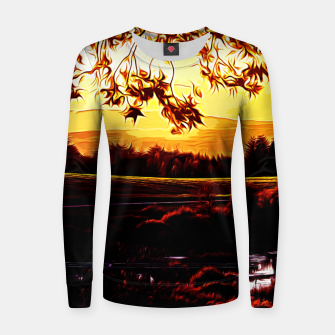 Thumbnail image of idyllic nature landscape vayr Women sweater, Live Heroes