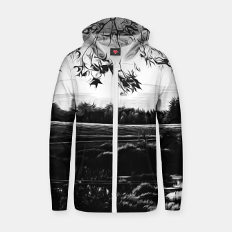 Thumbnail image of idyllic nature landscape vabw Zip up hoodie, Live Heroes