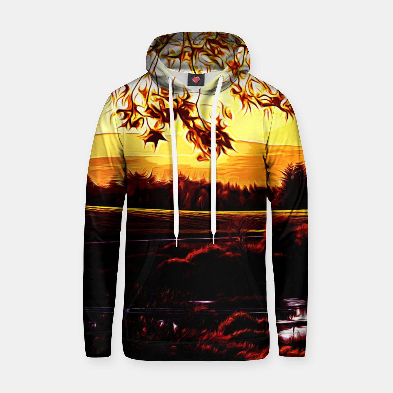 Image of idyllic nature landscape vayr Hoodie - Live Heroes